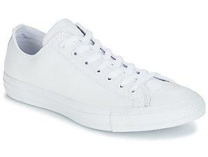 Xαμηλά Sneakers Converse ALL STAR MONOCHROME CUIR OX ΣΤΕΛΕΧΟΣ: Δέρμα & ΕΠΕΝΔΥΣΗ: Ύφασμα & ΕΣ. ΣΟΛΑ: Ύφασμα & ΕΞ. ΣΟΛΑ: Καουτσούκ