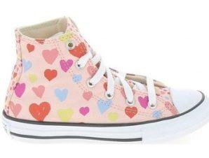 Ψηλά Sneakers Converse All Star Hi K Rose Coeurs