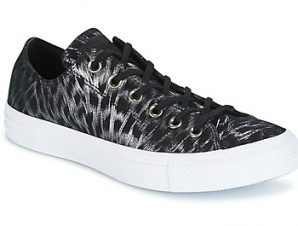 Xαμηλά Sneakers Converse CHUCK TAYLOR ALL STAR SHIMMER SUEDE OX BLACK/BLACK/WHITE